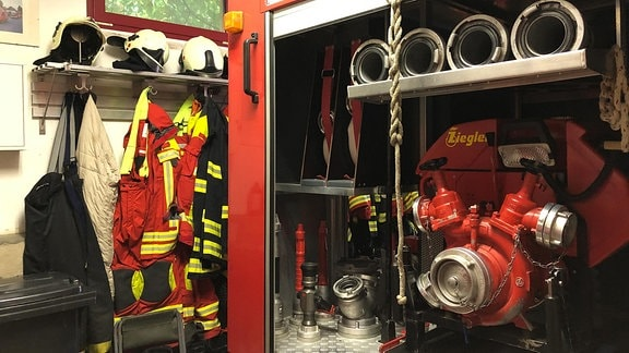 Geräteraum der Feuerwehr Azmannsdorf