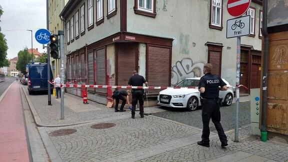 Polizei ermittelt nach Streit mit Schwerverletztem in Andreasstraße in Erfurt