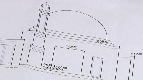 Skizze einer Moschee