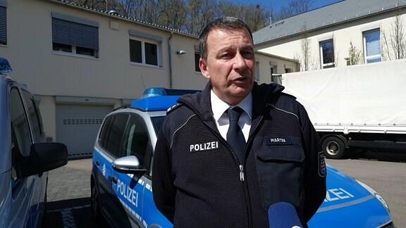 Patrick Martin von der Polizei Thüringen