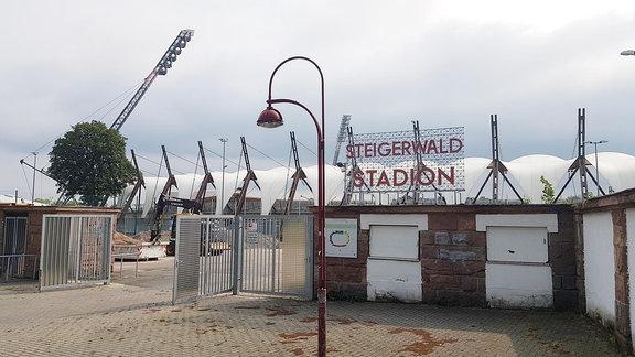 Steigerwaldstadion Erfurt Stadion Rot-Weiß Fußball