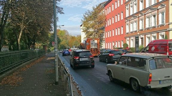 Verkehrsversuch in Talstraße in Erfurt geplant