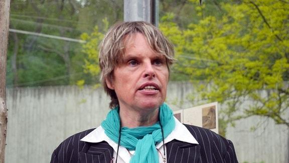 Zoodirektorin Dr. Sabine Merz im Erfurter Zoo.