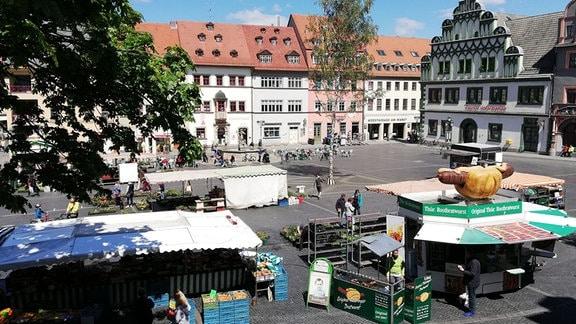 Der Markt in Weimar.