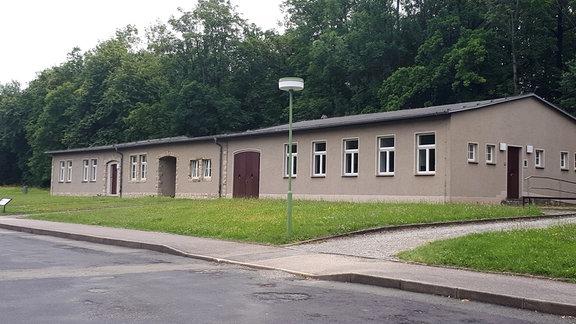 Restaurierungswerkstatt im Gebäude der ehemaligen Kommandantur der SS.
