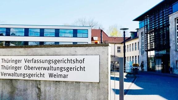 Weimar Verwaltungsgericht Thüringer Oberverwaltungsgericht Verfassungsgerichtshof