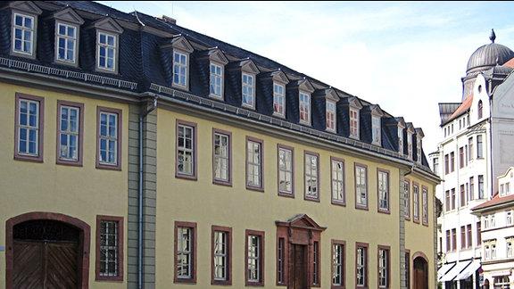 Das sogenannte Goethewohnhaus am Frauenplan in Weimar