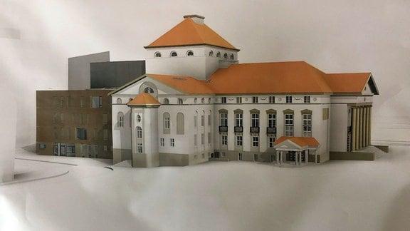 Modell des Theateranbau Nordhausen