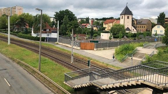Ab 1972 wurde neben das beschauliche Dorf Lusan der größte Geraer Stadtteil gebaut.