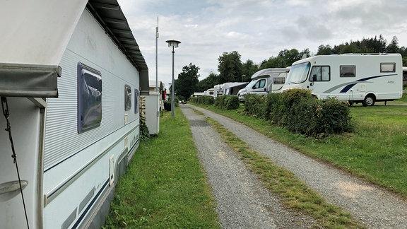 Campingplatz Saalburg Bad am Stausee Bleilochtalsperre