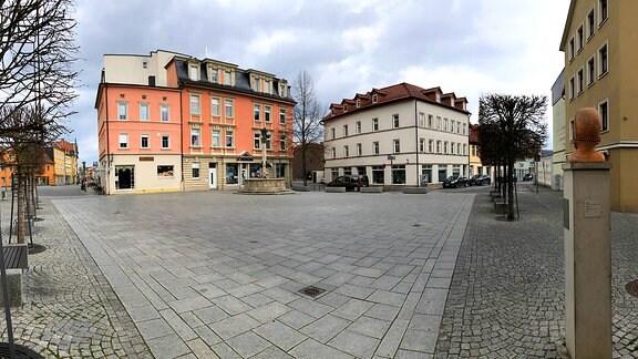 Leerer Platz in Rudolstadt
