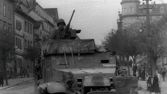Die US army in Gotha, April 1945