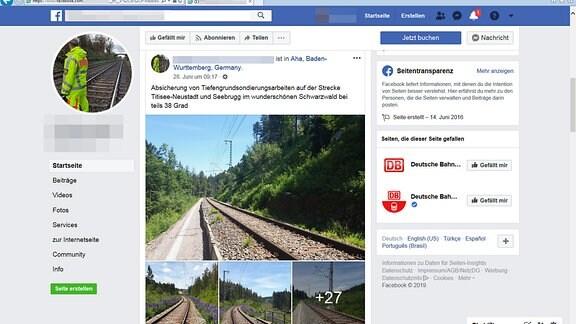 Screenshot eines Facebook-Posts, der die Projekte der Sicherheitsfirma im Juni 2019 dokumentiert
