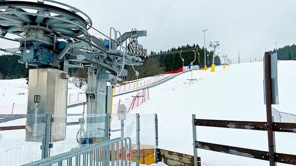 Lift und Hang in Schmiedefeld