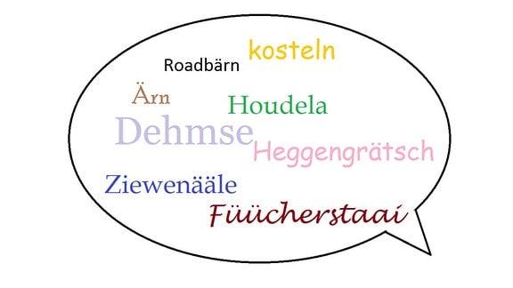 Grafik Sprechblase Dialekte
