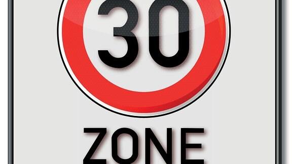 Verkehrsschild Tempo-30-Zone