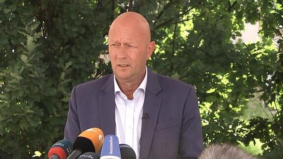 FDP-Fraktionschef Thomas Kemmerich am 14. Juli 2021 im Thüringer Landtag.