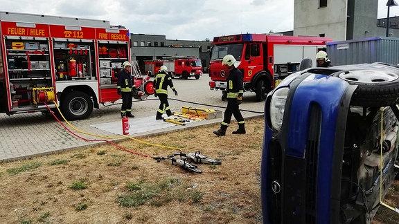 Übung Feuerwehr Weimar