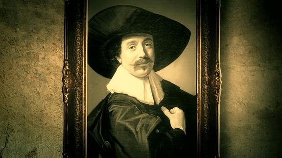 """""""Brustbild eines unbekannten Herrn mit Hut und Handschuhen"""" von Frans Hals."""