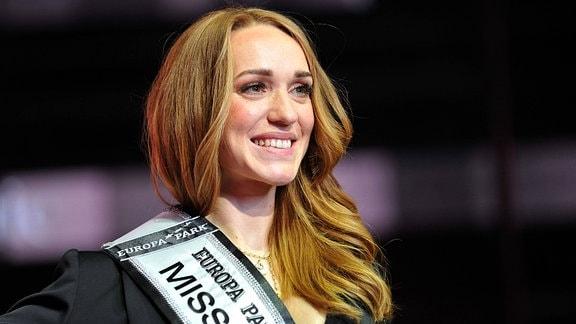 Anja Kallenbach anläßlich ihrer Wahl zur MISS GERMANY 2021