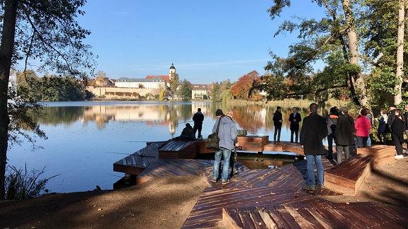 Übergabe des neugestalteten Burgseeufers in Bad Salzungen.