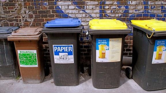 Bioabfall-, Papiertonne und Gelbe Tonne