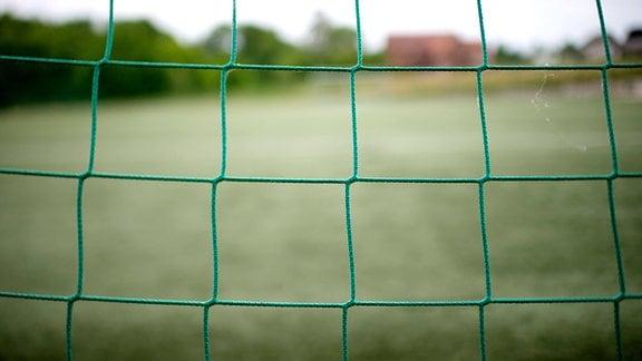 Ein Fußballtor mit Tornetz