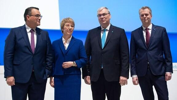 Oliver Burkhard, Martina Merz, Johannes Dietsch, Dr. Klaus Keysberg