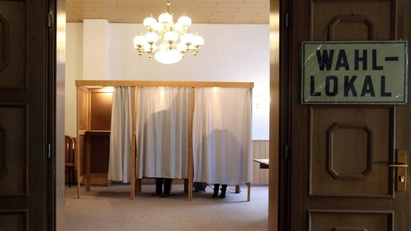 Wahllokal in Stößen