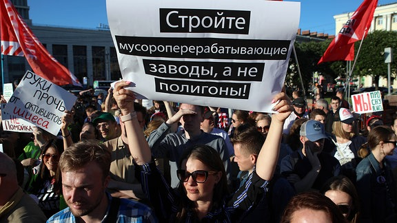 Russland Umwelt Proteste