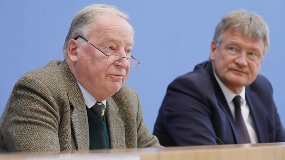 Dr. Alexander Gauland und Prof. Dr. Jörg Meuthen