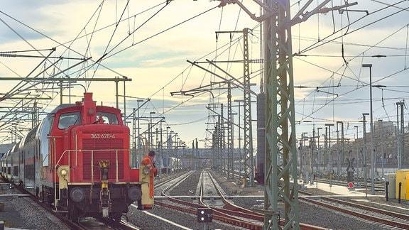 Rangier-Lok Hauptbahnhof Leipzig