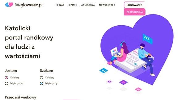 Screenshoot eines polnischen Dating-Portals.