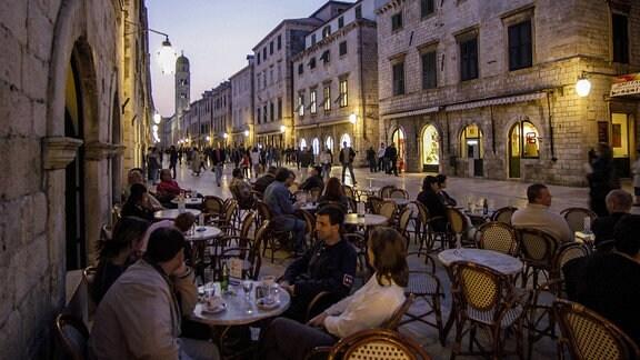 Abendstimmung in Dubrovnik, Kroatien