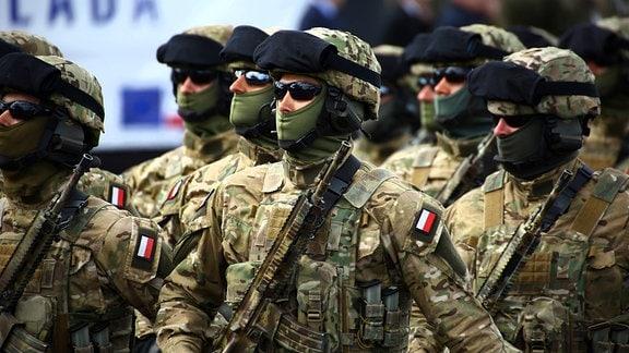 Parade Polnischer Soldaten