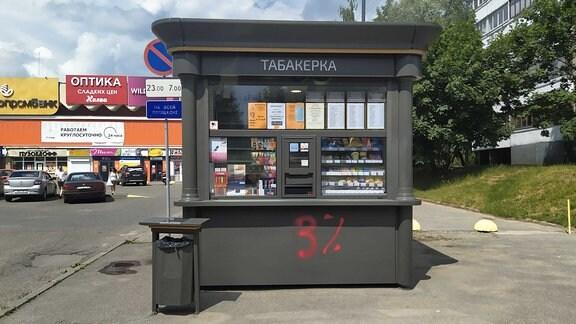 Ein Kiosk in der belarusischen Hauptstadt Minsk