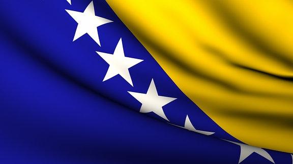 Flagge von Bosnien-Herzegowina