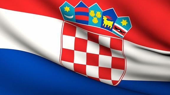 Die Flagge Kroatiens.