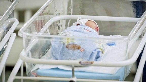 Baby in einer Kinderwunschklinik von BioTexCom in Kiew, größter Dienstleister für Reproduktionsmedizin in der Ukraine