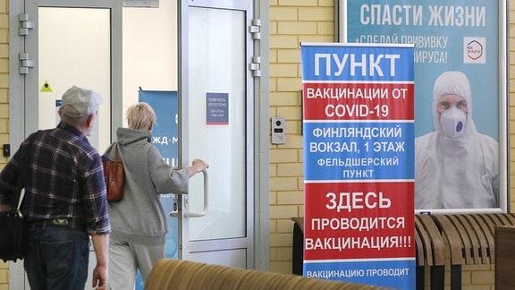 Impfstation in Sankt Petersburg