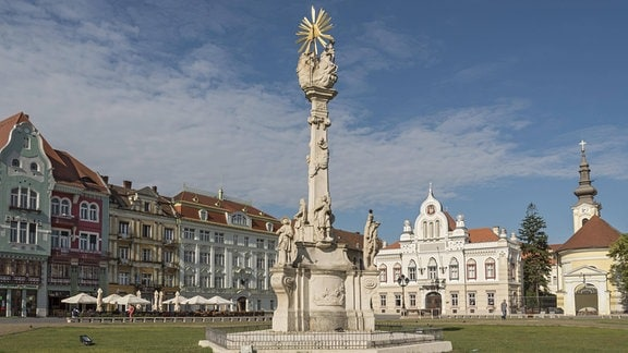 Dreifaltigkeitssäule auf dem Platz der Einheit in Timisoara, Rumänien