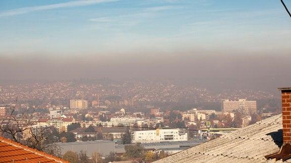 Smog über der westserbischen Stadt Valjevo