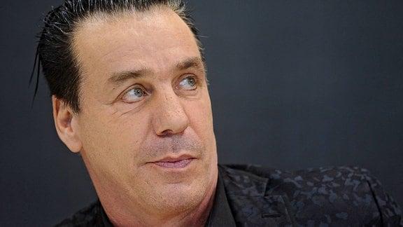 Sänger Till Lindemann ( Rammstein ) auf der Frankfurter Buchmesse.