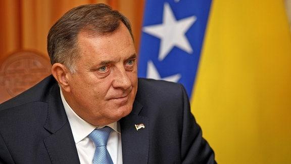 Milorad Dodik, serbisches Mitglied der dreigliedrigen Präsidentschaft von Bosnien und Herzegowina