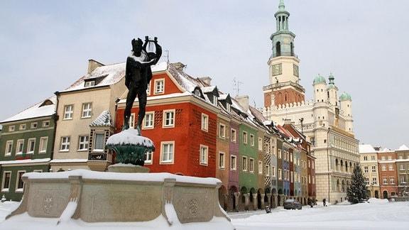 Die Altstadt von Poznan mit dem Alten Markt und dem Rathaus