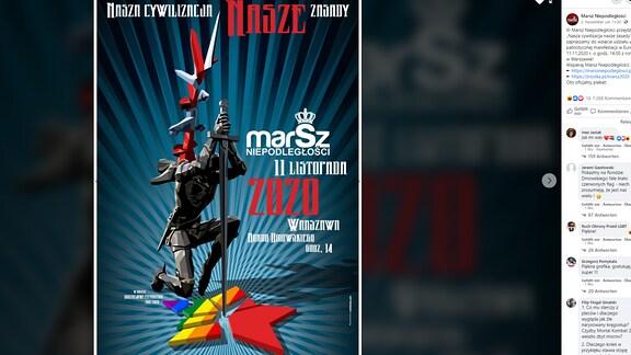 Offizielles Plakat zum Unabhängigkeitsmrsch in Warschau 2020