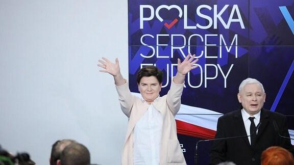 Beata Szydlo und Jaroslaw Kaczynski