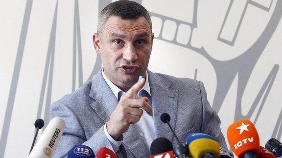 Vitali Klitschko auf Pressekonferenz