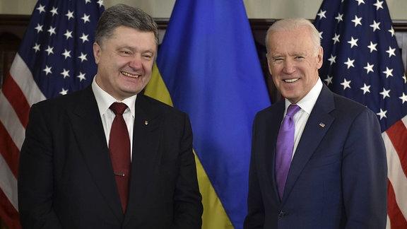 Petro Poroschenko und Joe Biden, 2015