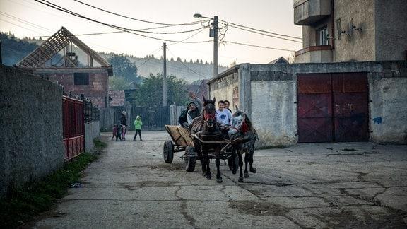 Pferdewagen in Siebenbürgen in Rumänien